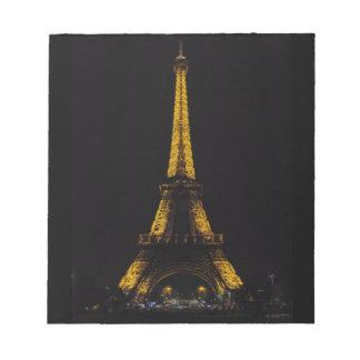 La turnerar Eiffel Anteckningsblock