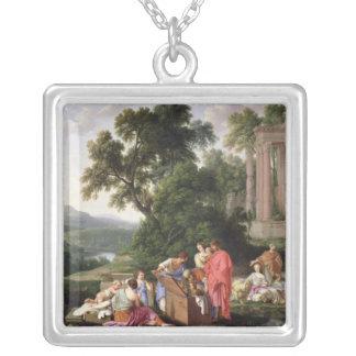 Laban som söker för förebilderna, 1647 silverpläterat halsband