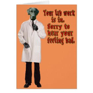 Labbarbete får det väl snart hälsningkortet OBS kort