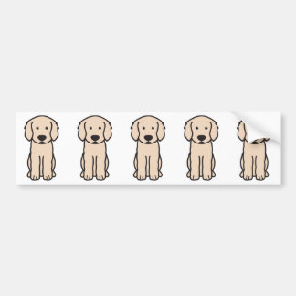 Labradoodle hundtecknad bildekal