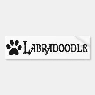 Labradoodle (piratstil med pawprint) bildekal