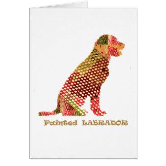 LABRADOR: Majestätisk elegant hund Hälsningskort