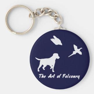 Labrador och Falconry Rund Nyckelring