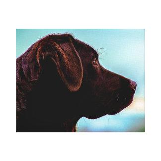 Labrador på skymningen canvastryck