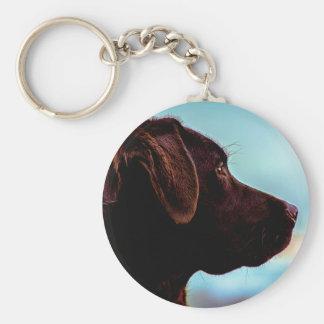 Labrador på skymningen rund nyckelring