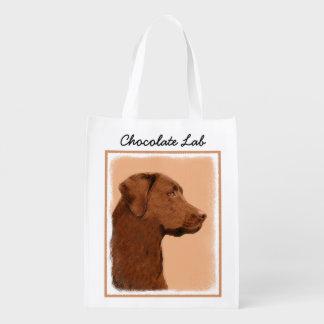 Labrador Retriever (choklad) Återanvändbar Påse
