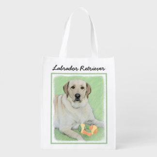 Labrador Retriever (gult) Återanvändbar Påse