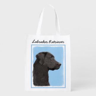 Labrador Retriever (svarten) Återanvändbar Påse