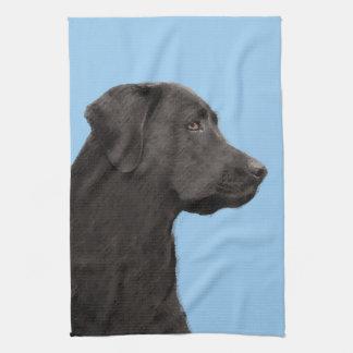 Labrador Retriever (svarten) Kökshandduk