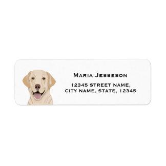 labrador returadressetikett returadress etikett