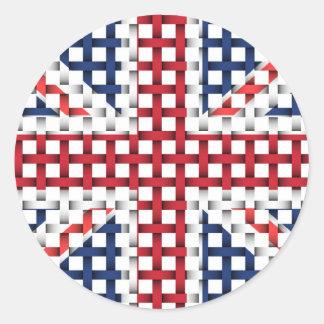 Lacey brittisk flagga runt klistermärke