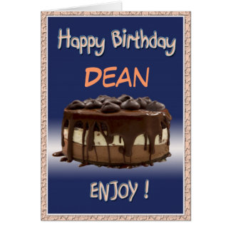 """Läcker personlig födelsedag/tårta   """"ändringsnamn hälsningskort"""