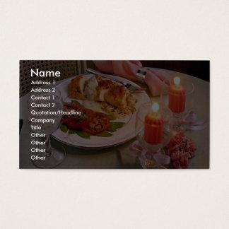 Läcker romantisk candlelightkvällsmål visitkort
