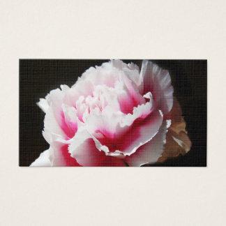 Läcker rosa affär för nejlikablommablommigt visitkort