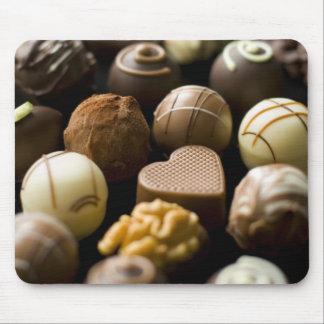 Läckra chokladpralines mus mattor