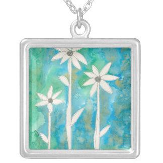 Läckra daisy mig silverpläterat halsband