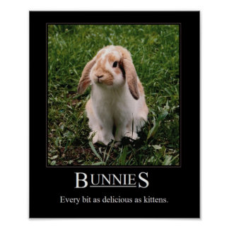 Läckra kaniner! Affisch Poster