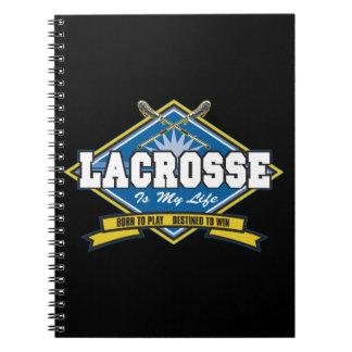 Lacrosse är mitt liv anteckningsbok med spiral