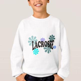 Lacrosse med blåa blommor t-shirts