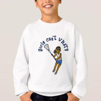 Lacrossespelare i blått tröjor