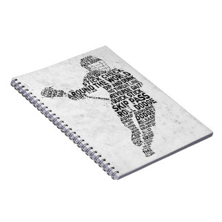 Lacrossetypografidesign Anteckningsbok Med Spiral