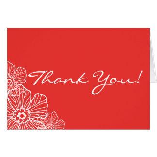 Lacy blom- tackkortkort röd | OBS kort
