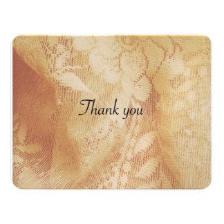 lacy bröllop tackar dig att card 10,8 x 14 cm inbjudningskort