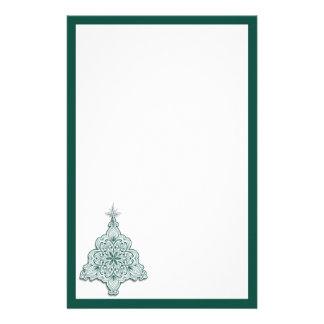 Lacy julgranbrevpapper brevpapper