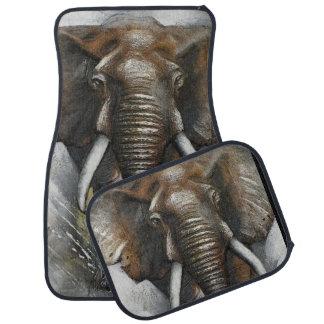 Laddande elefantbilmattor bilmatta