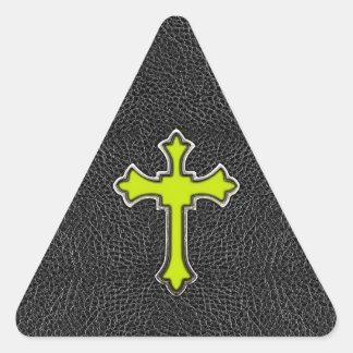Läder ImagePrint för vintage för svart för Triangelformat Klistermärke