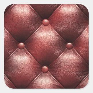 Läder knäppas Tufted klistermärkear Fyrkantigt Klistermärke