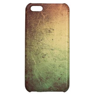 Läder med metalliska Sheen i orange och grönt iPhone 5C Mobil Skydd
