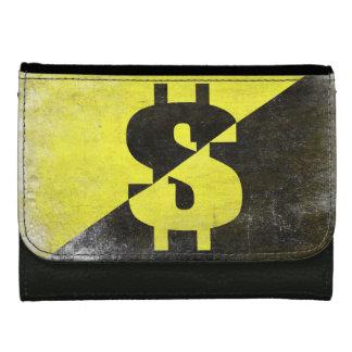 Läderplånbok med kall Anarcho-Kapitalist flagga