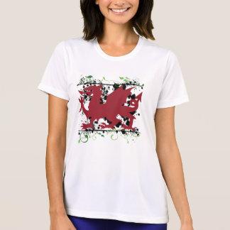 Ladies för walesisk drake mikroT-tröja för fiber Tee Shirts