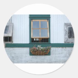 Ladugård-Fönster Runt Klistermärke