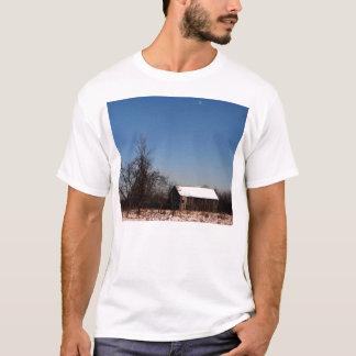 Ladugård med månebakgrund och tillbaka Sugarshack T Shirts