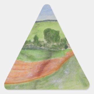 Ladugård Triangelformat Klistermärke