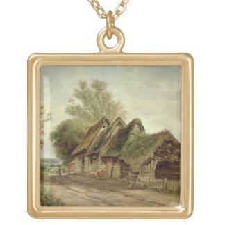 Ladugårdar på Flatford (olja på kanfas) Halsband