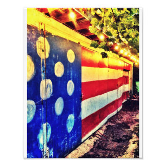 Ladugårdflagga Fotografiska Tryck