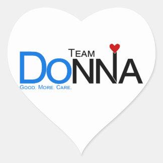 Lag Donna Hjärtformat Klistermärke