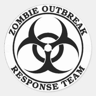 Lag för Zombieutbrottsvar (biohazarden) Runda Klistermärken
