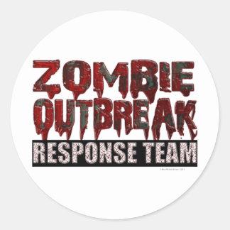 Lag för Zombieutbrottsvar Runt Klistermärke