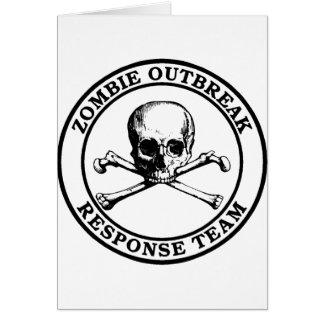 Lag för Zombieutbrottsvar (skalleCrossbones) Hälsningskort