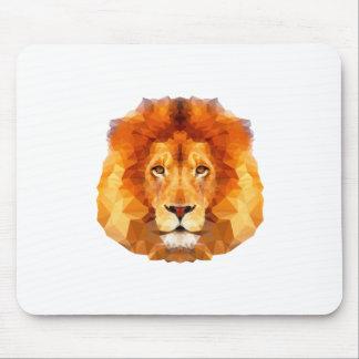Low poly design. Lion illustration