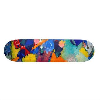 """Låg poly rött & blått Skateboards ¾ 17 """","""
