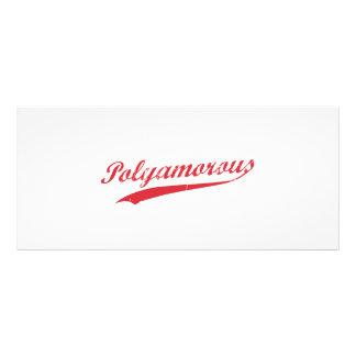 Lag Polyamory Polyamorous och stolt Reklamkort