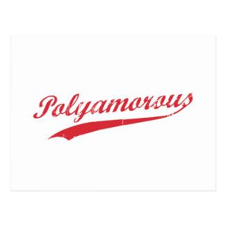 Lag Polyamory Polyamorous och stolt Vykort