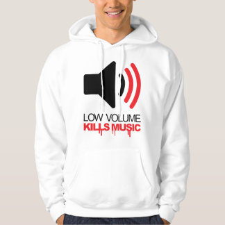 Låg volym dödar musik hoodie