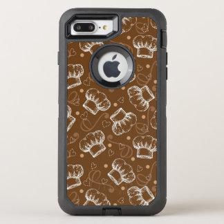 Laga mat mönster med kockhatten OtterBox defender iPhone 7 plus skal