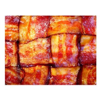 Lagad mat baconväv vykort